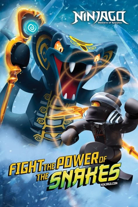 Plakát LEGO - ninjago power of snakes
