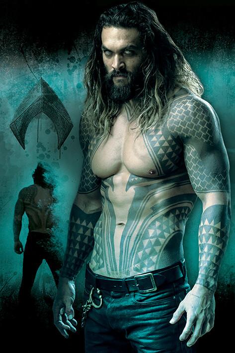 Plakat Liga Sprawiedliwości- Aquaman