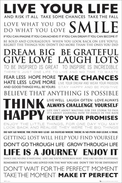Plakát  Live your life