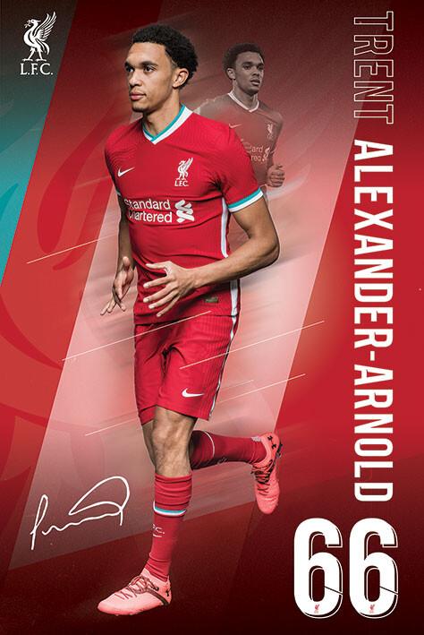 Plakát Liverpool FC - Alexander Arnold 20/2021 Season