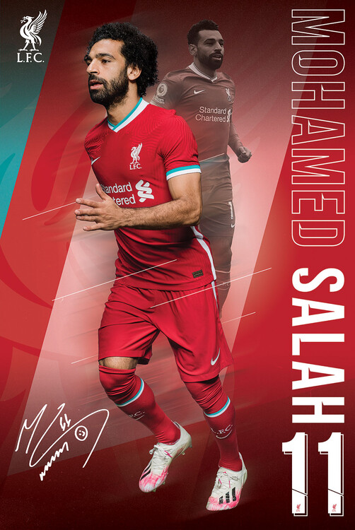 Plakát Liverpool FC - Salah 20/2021 Season