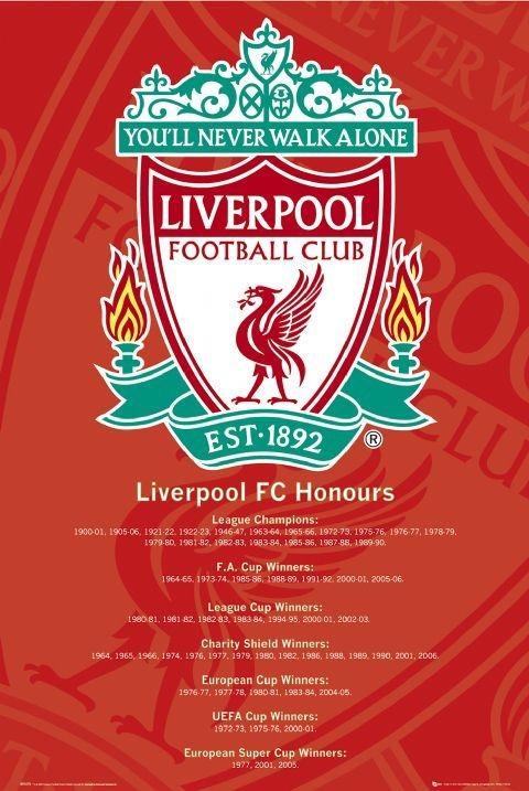 Plakát Liverpool - honours