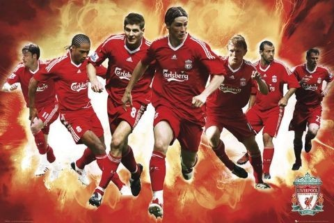 Plakat Liverpool - players 09/10