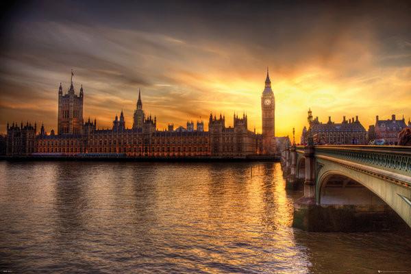 Plakát Londýn - Big Ben Parliament