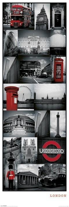 Plakát  Londýn - collage