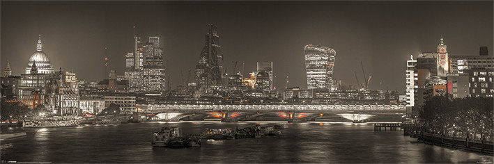 Plakát Londýn - Skyline