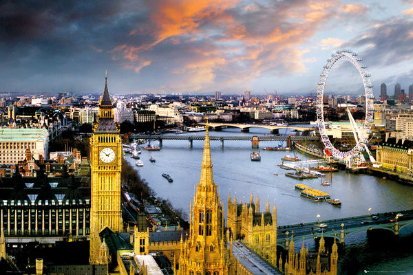 Plakat Londyn - thames