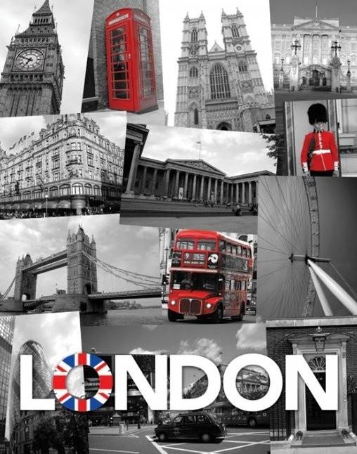 Plakát Londýn - union jack