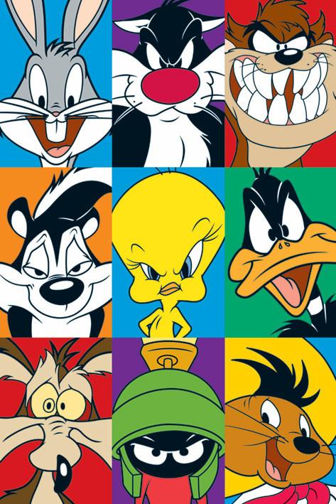 Plakat LOONEY TUNES - personajes