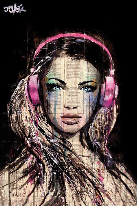 Plakát  Loui Jover - DJ Girl
