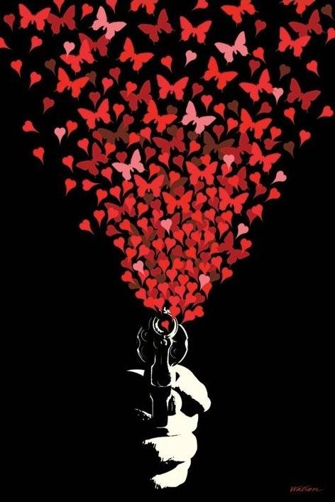 Plakát Love gun - malcolm watson