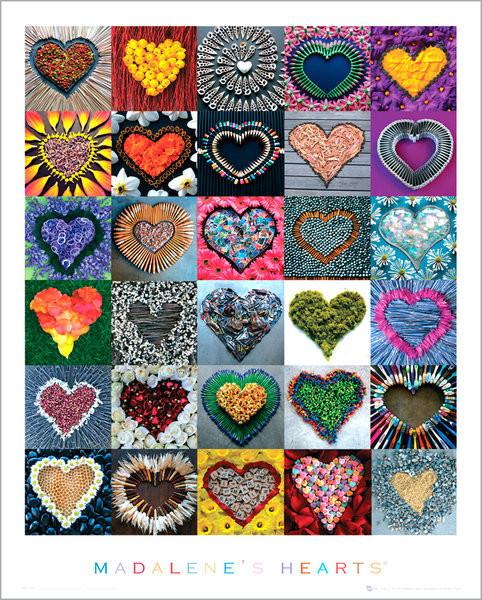 Plakát Madalene's hearts