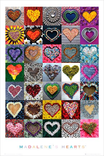 Plakát Madalene's hearts - srdce