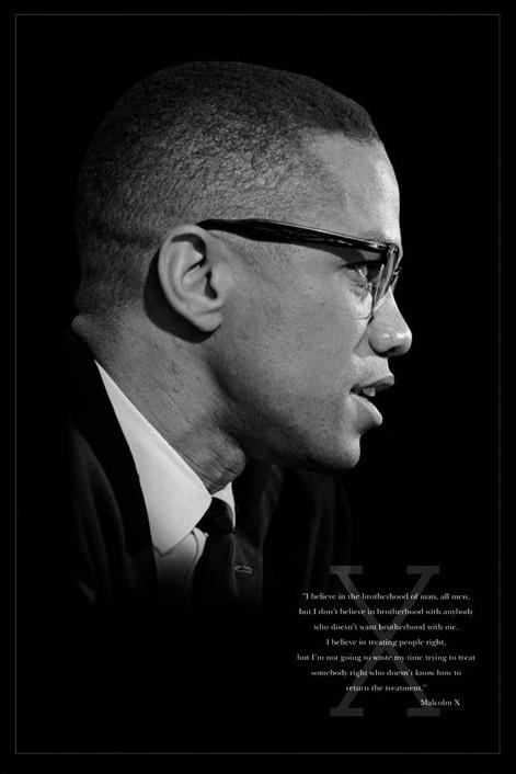 Plakát Malcolm X - bratrství