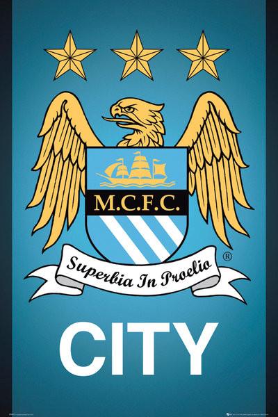 Plakát Manchester City FC - Crest 13/14