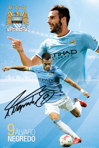 Plakat Manchester City FC - Negredo 13/14
