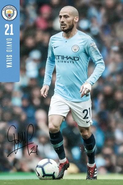 Plakat  Manchester City - Silva 18-19