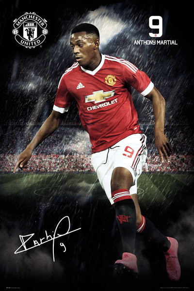 Plakat Manchester United FC - Martial 15/16
