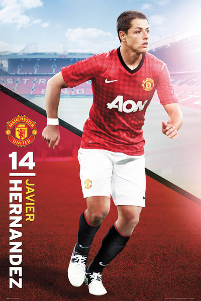 Plakát Manchester United - hernandez 12/13