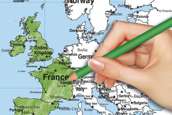 Plakát Mapa světa - Colour In