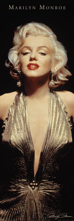 Plakát MARILYN MONROE - gold