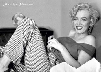 Plakát Marilyn Monroe - postel