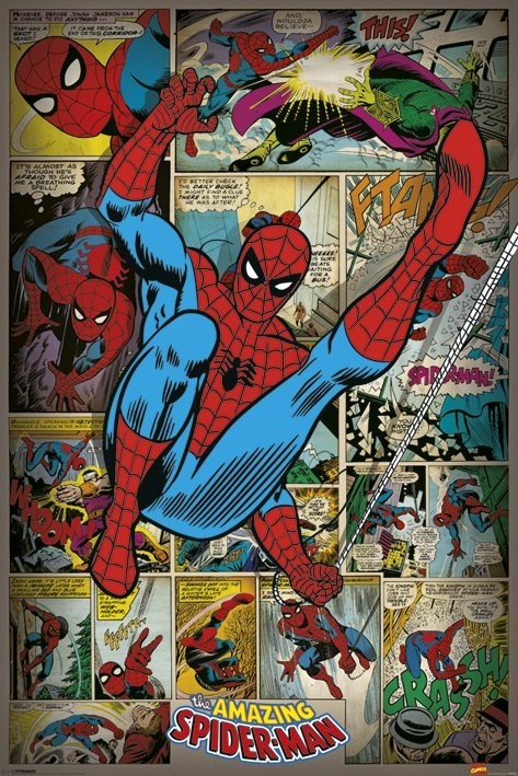 Plakát  MARVEL COMICS - spider man ret