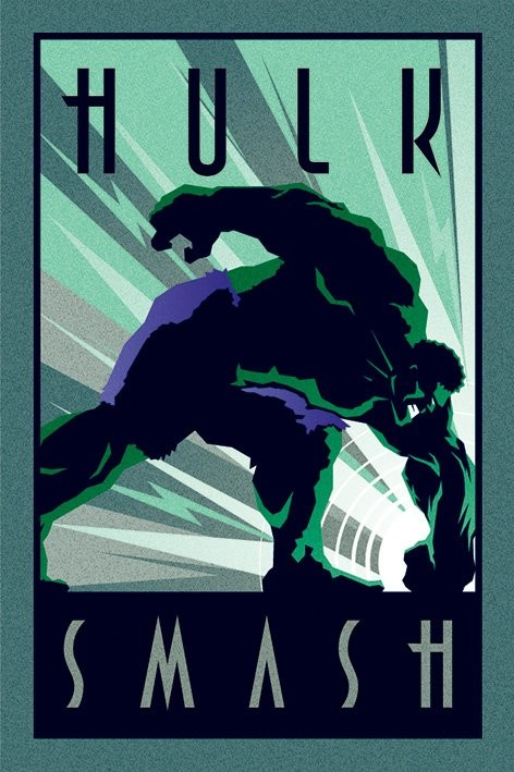 Plakát  Marvel Deco - Hulk