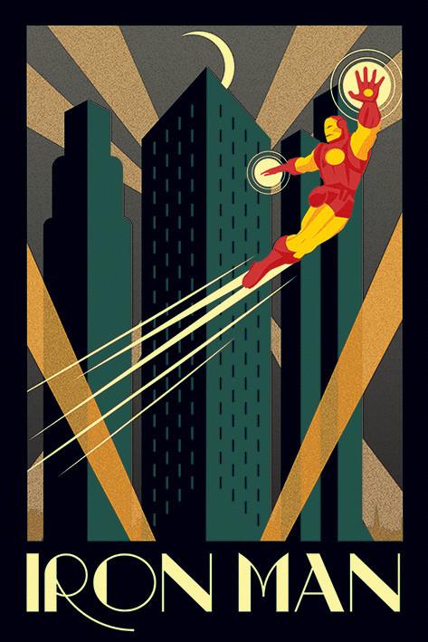 Plakát Marvel Deco - Iron man