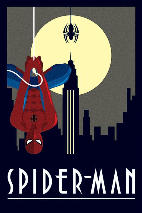 Plakát  Marvel Deco - Spider-Man Hanging