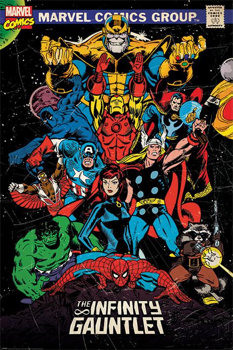 Plakát  Marvel Retro - The Infinity Gauntlet