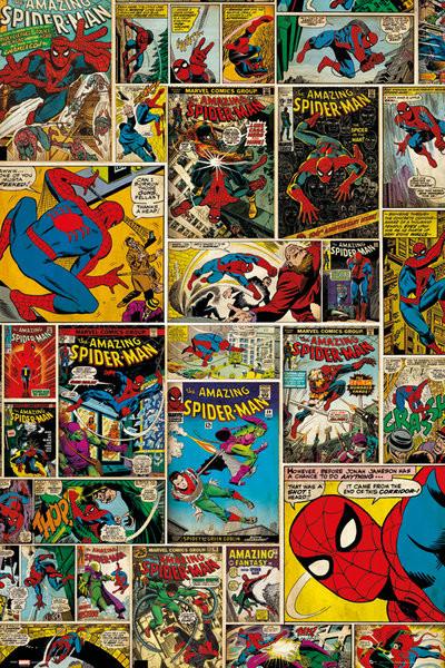 Plakát MARVEL - spider-man comic cover