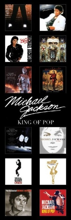 Plakát Michael Jackson - albums