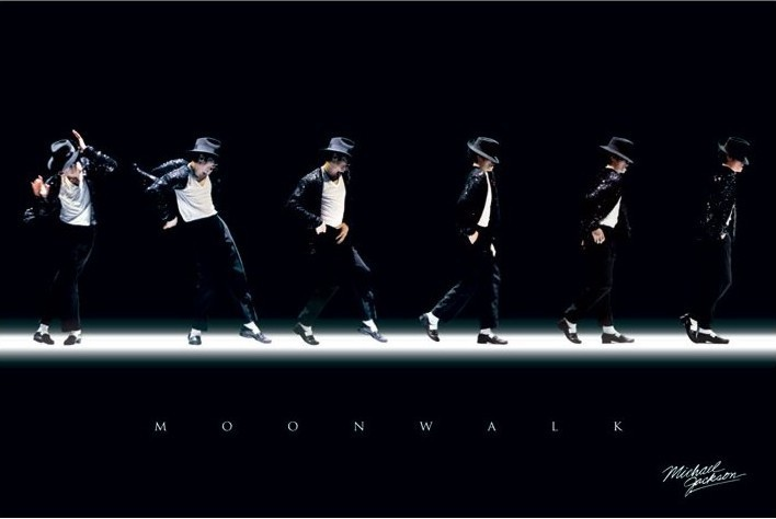 Plakat Michael Jackson - moonwalk