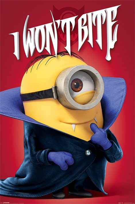 Plakat Minionki (Despicable Me) - I won't bite