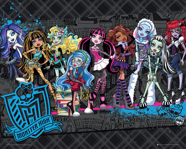 Plakát MONSTER HIGH - cast