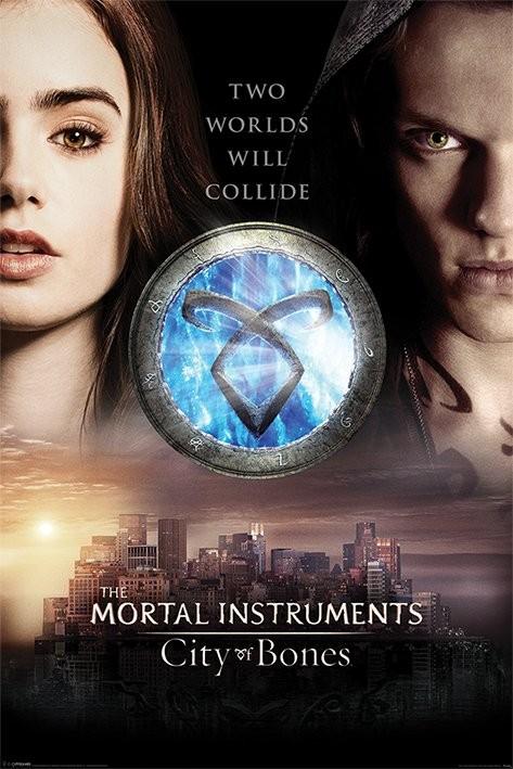 Plakát MORTAL INSTRUMENTS : MĚSTO Z KOSTÍ – two worlds