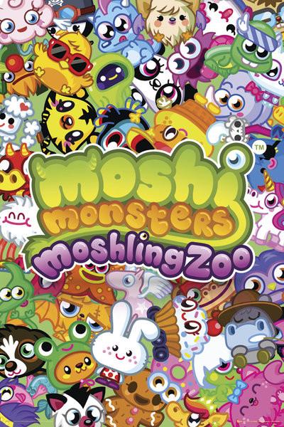 Plakat Obraz Moshi Monsters Moshling Zoo Kup Na Posters Pl
