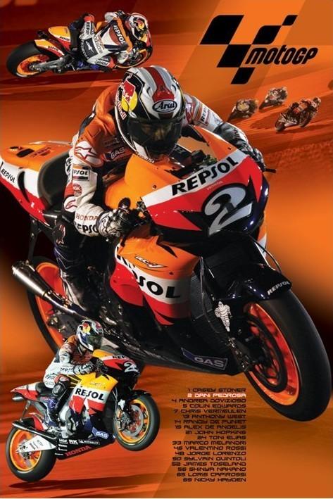 Plakat Moto GP - pedrosa