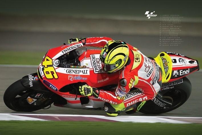 Plakát Moto GP - valentino rossi