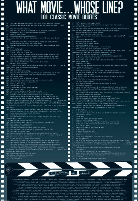 Plakat Movie quotes