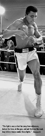 Plakát Muhammad Ali - training