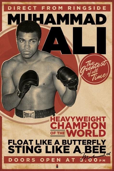 Plakát  Muhammad Ali - vintage