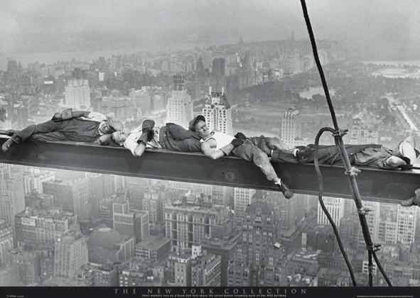 Plakát New York - asleep on girder
