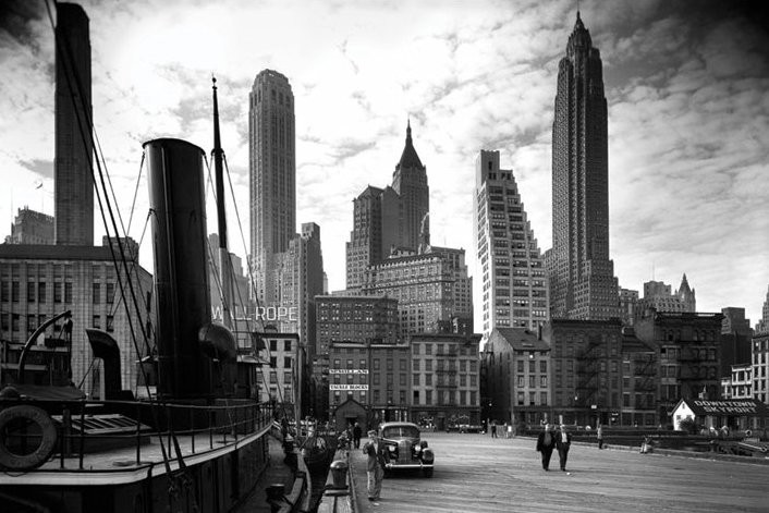 Plakát new york city pier 1938
