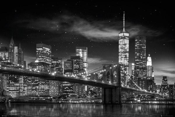 Plakát  New York - Freedom Tower (B&W)
