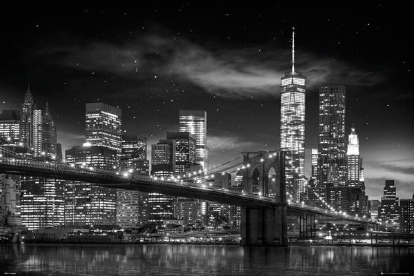 Plakát New York - Freedom Tower B&W