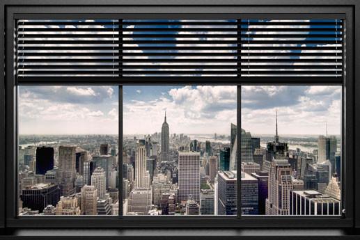 Plakát New York - window blinds