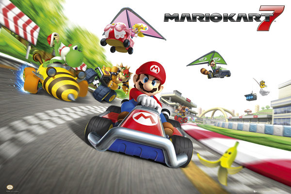Plakát Nintendo - mario kart 7