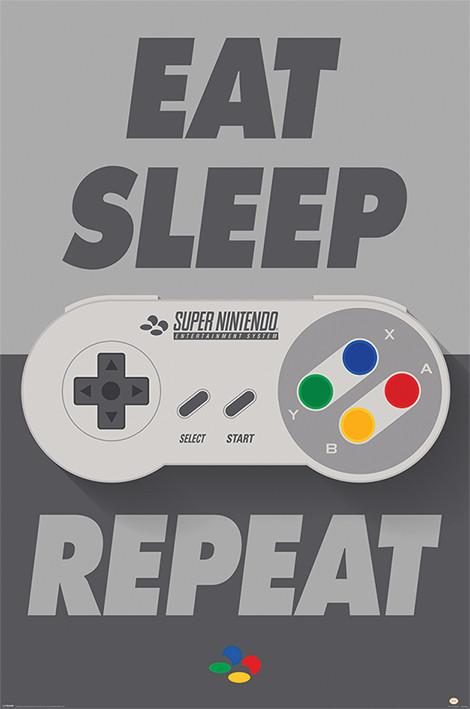 Plakat Nintendo - SNES Controller